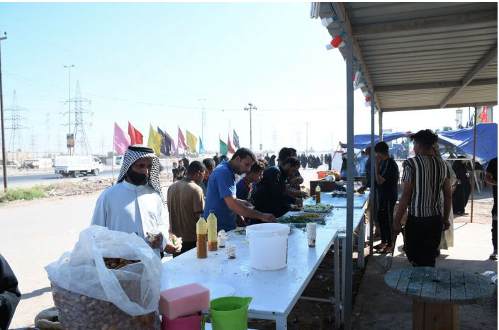 (2982) service processions from Wasit governorate, provided services to the visitors of the Arba'een