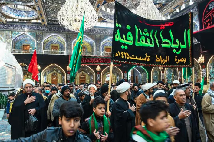 Fatimi mourning processions roam the streets and holy shrines of Karbala.
