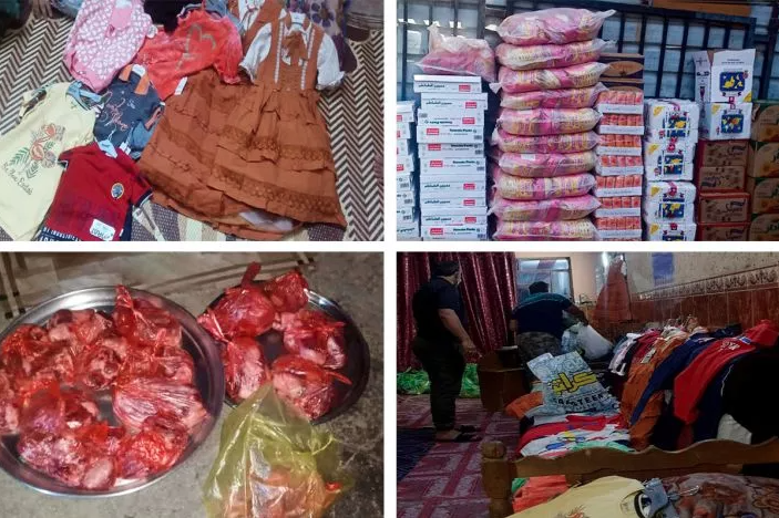 Eid clothing and food baskets for poor families and orphans